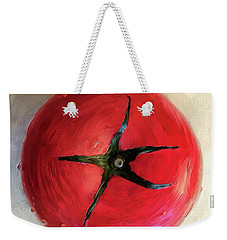 Weekender Tote Bag featuring the digital art Tomato by Lois Bryan