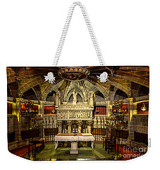 Tomb Of Saint Eulalia In The Crypt Of Barcelona Cathedral Weekender Tote Bag by RicardMN Photography