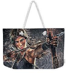 Tomb Raider Weekender Tote Bag by Taylan Apukovska