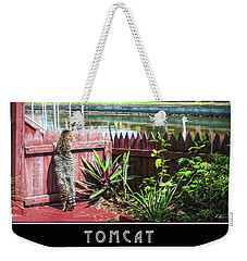 Weekender Tote Bag featuring the photograph Tomcat Breakfast by Hanny Heim
