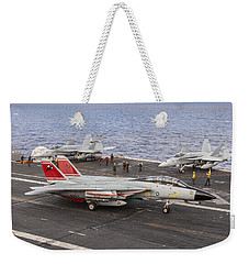 Tomcatters Aboard The Uss Theodore Roosevelt Weekender Tote Bag