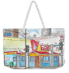 Tony Burger, Downtown Los Angeles, California Weekender Tote Bag