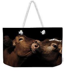 Toned Down Bovine Affection Weekender Tote Bag