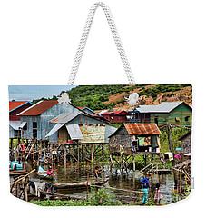 Tonle Sap Boat Village Cambodia Weekender Tote Bag