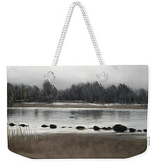 Weekender Tote Bag featuring the painting Too Early Out by Ivana