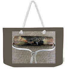 Weekender Tote Bag featuring the sculpture Too Pretty To Wash Off by Nancy Kane Chapman