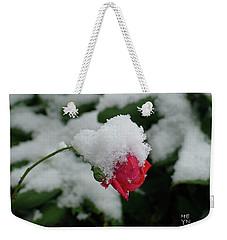 Too Soon Winter - Red Rose  Weekender Tote Bag