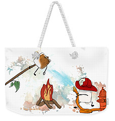 Weekender Tote Bag featuring the digital art Too Toasted Illustrated by Heather Applegate