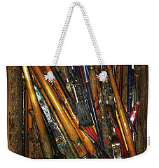 Tools Of The Painter Weekender Tote Bag by Jame Hayes