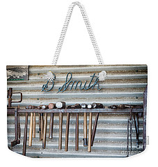 Weekender Tote Bag featuring the photograph Tools Of The Trade by Linda Lees