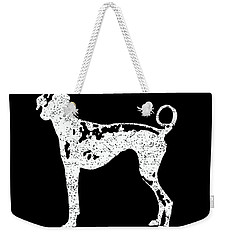 Top Dog Brewing Company Tee White Ink Weekender Tote Bag by Edward Fielding