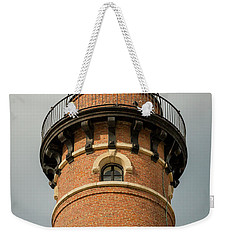 Weekender Tote Bag featuring the photograph Top Of Little Sable Point Lighthouse by Adam Romanowicz
