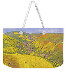 Weekender Tote Bag featuring the photograph Top Of The Temblor Range by Marc Crumpler