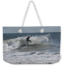 Weekender Tote Bag featuring the photograph Top Of The Wave by Greg Graham