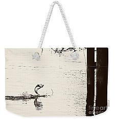 Top Water Explosion - Vintage Tone Weekender Tote Bag
