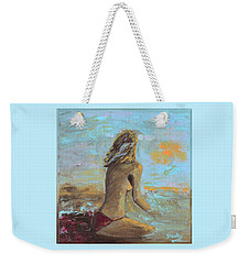 Topless Beach Weekender Tote Bag by Donna Blackhall