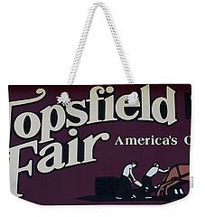 Topsfield Fair 1818 Weekender Tote Bag