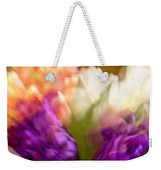 Weekender Tote Bag featuring the photograph Topsy Turvy Tulips by Cathy Donohoue