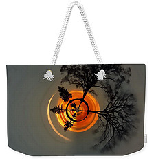 Topsy Turvy World - Sunset Weekender Tote Bag