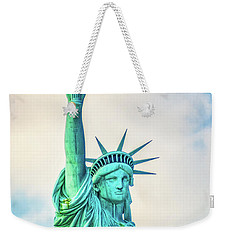 Weekender Tote Bag featuring the photograph Torch Of Liberty by Nick Zelinsky