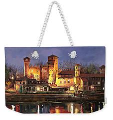 Torino-il Borgo Medioevale Di Notte Weekender Tote Bag