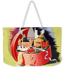 Torino Turin Italy Vintage Travel Poster Restored Weekender Tote Bag