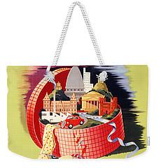 Torino Turin Italy Vintage Travel Poster Restored Weekender Tote Bag