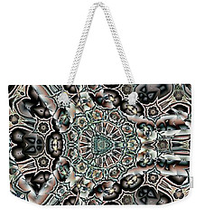 Weekender Tote Bag featuring the digital art Torn Patterns by Ron Bissett