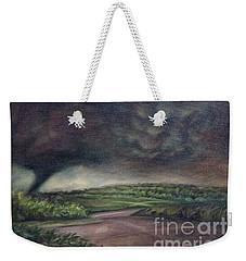 Millsfield Tennessee Tornado From My Backdoor Weekender Tote Bag by Randy Burns