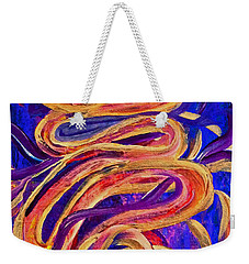Weekender Tote Bag featuring the painting Tornado Swirls by Claire Bull