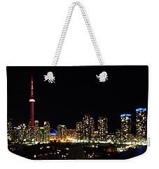 Toronto At Night Weekender Tote Bag by David Pantuso