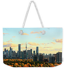 Toronto Autumn Skyline Weekender Tote Bag by Charline Xia