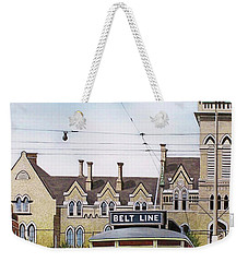 Weekender Tote Bag featuring the painting Toronto Belt Line by Kenneth M Kirsch