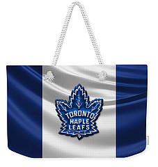Toronto Maple Leafs - 3d Badge Over Flag Weekender Tote Bag