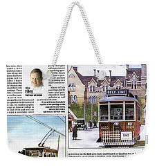 Weekender Tote Bag featuring the painting Toronto Sun Article Painting The Town by Kenneth M Kirsch