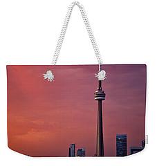 Toronto Sunset Weekender Tote Bag by Ian Good