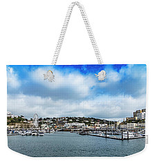 Weekender Tote Bag featuring the photograph Torquay Devon by Scott Carruthers