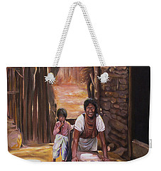 Weekender Tote Bag featuring the painting Tortillas De Madre by Nancy Griswold