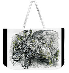 Tortoise Among The Ferns Weekender Tote Bag by MM Anderson