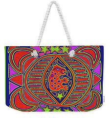 Weekender Tote Bag featuring the digital art Tortuga Shaman Spirits by Vagabond Folk Art - Virginia Vivier