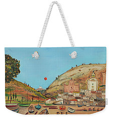 Weekender Tote Bag featuring the painting Tossa by Fred Uhlman