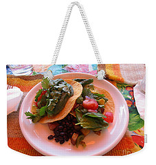 Weekender Tote Bag featuring the photograph Tostada Times Two by Marie Neder