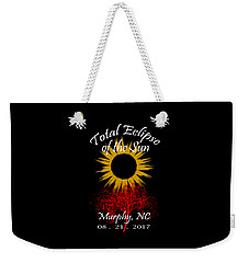 Total Eclipse T-shirt Art Murphy Nc Weekender Tote Bag