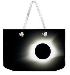 Weekender Tote Bag featuring the photograph Totality And Mercury by Randy Scherkenbach
