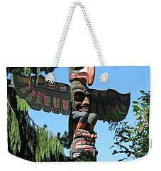 Totem Pole Weekender Tote Bag by Betty Buller Whitehead