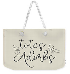 Totes Adorbs Weekender Tote Bag by Jaime Friedman
