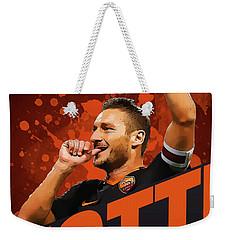 Totti Weekender Tote Bag by Semih Yurdabak