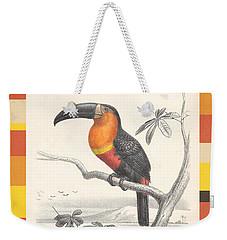 Weekender Tote Bag featuring the digital art Toucan Bird Responsible Travel Art by Nola Lee Kelsey