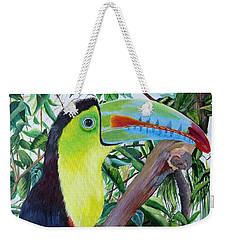 Toucan Portrait Weekender Tote Bag by Marilyn McNish