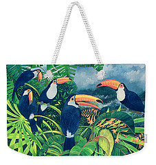 Toucan Talk Weekender Tote Bag